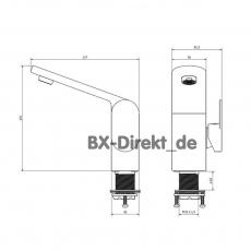 Der Chrom Wasserhahn Futura Einhebelmischer - Qualität von BISK