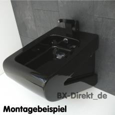 schwarzer Bidethahn Design Bidet Wasserhahn Armatur in edlem Schwarz