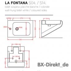 bicolor Designer Bidet weiss schwarz LaFontana aus der Keramikmanufaktur ArtCeram Italien