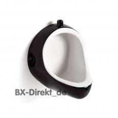 Das Vintage-Look Keramik Urinal Pissoir weiß schwarz aus Italien