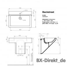 Waschtisch BACKSTREET der Designer Waschbecken Meridiana aus Italien