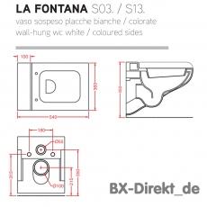 Italienisches Designer WC weiß LaFontana das von Original ArtCeram
