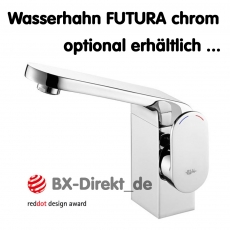 Designer Vorbau-Waschbecken WALL der italienische Keramik Monoblock Waschtisch