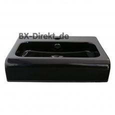 elegantes Halbeinbau Waschbecken aus Keramik in Schwarz optional auch mit Nano-Beschichtung