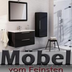 Designer Badmöbel SONUS von DEVO in schwarz Anthrazit Badkombination