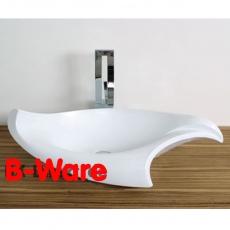 B-WARE LIKOS Designer Muschel Waschbecken zum Schnäppchenpreis!