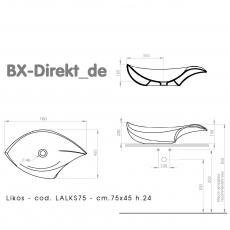 B-WARE LIKOS Designer Muschel Waschbecken zum TOP Schnäppchenpreis!