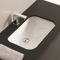 NETTUNO Unterbaubecken des Designer Carlo Urbinati der Original Unterbau Waschtisch von ArtCeram aus Italien