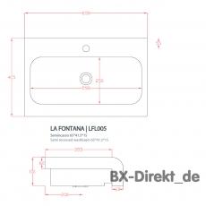 B-Ware Waschbecken LaFontana weisser Halbeinbau Waschtisch von ArtCeram