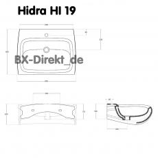 50% Rabatt auf Hidra Hi-Line HI19 Gold Waschbecken mit goldfarbenen Seiten