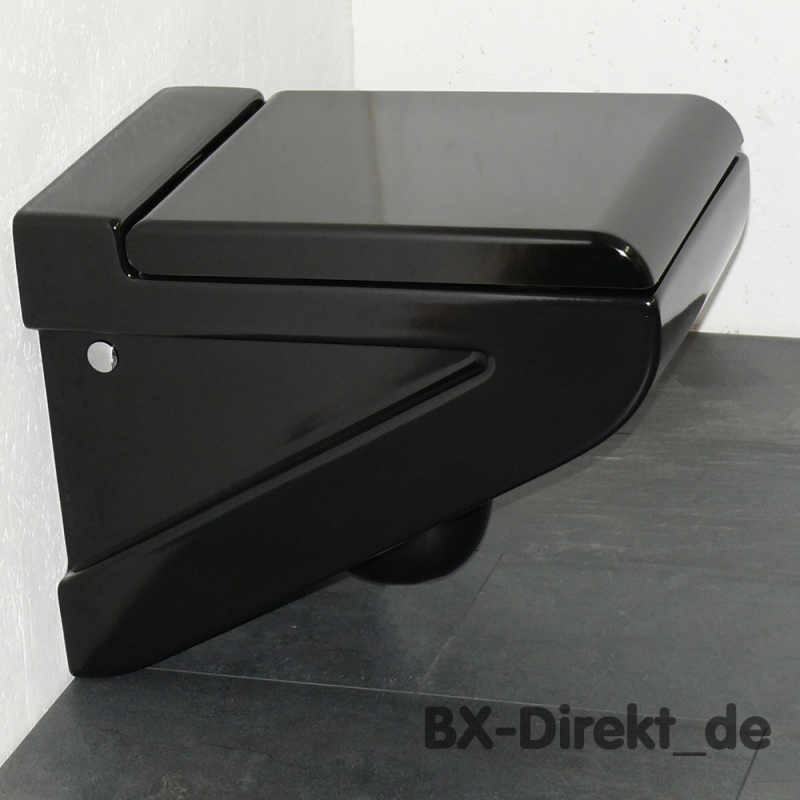 Schwarzes Keramik Hange Wc Toilette Schwarz Klosett Klo Wc Wandhangend