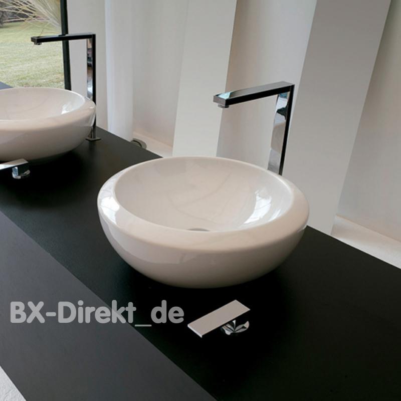 rund und massiv das aufsatzbecken blend 46 rundes keramik waschbecken. Black Bedroom Furniture Sets. Home Design Ideas