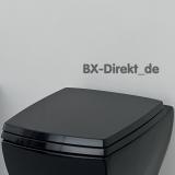 schwarzer Softclose WC-Sitzfür WC JAZZ mit Absenkautomatik von ArtCeram