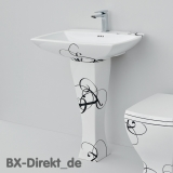retromodern washbasin with lettering decor, the Italian ceramic washbasin JAZZ