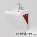 Waschtisch zweifarbig weiß und rot bicolor Waschbecken LaFontana