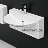 Designer Vorbau-Waschbecken WALL - italienischer Keramik Monoblock Waschtisch