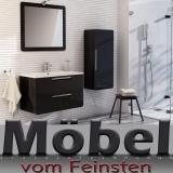 Designer Badmöbel SONUS schwarz Anthrazit die Badkombination von DEVO
