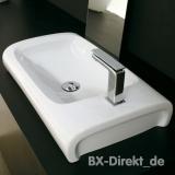 Waschtisch Hi-Line 70 zum Schnäppchen Preis original Aufsatz Waschbecken von Hidra Keramik aus Italien aus Restposten von Lagerauflösung