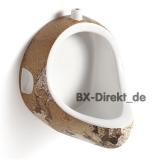 Designer Urinal Earth mit Globus Dekor, die Weltkugel als Pinkelbecken