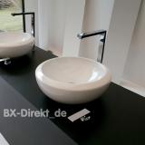 Schnäppchen - rund und massiv, das Aufsatzbecken Blend 46, ein rundes Keramik Waschbecken