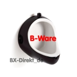 TOP-Angebot - Druckspüler Pissoir im bicolor Retro Style schwarz weiss mit kleinen Fehlern