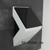 Bicolor Designer Urinal mit Urinaldeckel in Schwarz - das Keramikurinal LaFontana mit dem optionalen Lotuseffekt