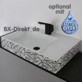 Waschtisch mit Dekormuster in schwarz - grau ein moderner Dekor Waschbecken