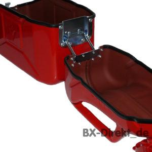 Brotdose aus einem roten Ersatzkanister